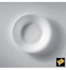 Piatto di Plastica Fondo Bianco Round PP Ø195mm (600 Pezzi)