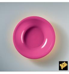 Piatto di Plastica Fondo Fucsia Round PP Ø195mm (50 Pezzi)