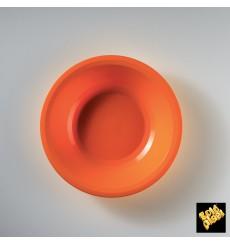 Piatto di Plastica Fondo Arancione Round PP Ø195mm (50 Pezzi)