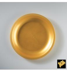 Piatto Plastica Piano Oro Round PP Ø220mm (600 Pezzi)