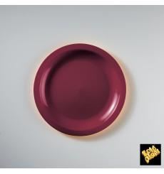Piatto Plastica Piano Bordò Round PP Ø185mm (600 Pezzi)