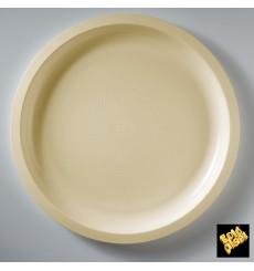 Piatto di Plastica Crema Round PP Ø290mm (25 Pezzi)