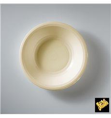 Piatto di Plastica Fondo Crema Round PP Ø195mm (50 Pezzi)