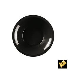 Piatto di Plastica Fondo Nero Round PP Ø195mm (600 Pezzi)