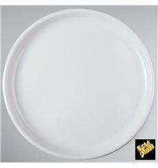 Piatto di Plastica per Pizza Bianco Round PP Ø350mm (144 Pezzi)