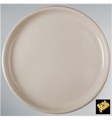 Piatto di Plastica per Pizza Beige Round PP Ø350mm (144 Pezzi)