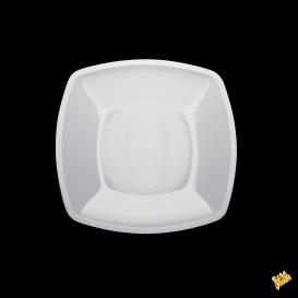Piatto Plastica Liscio Bianco 180mm (150 Pezzi)