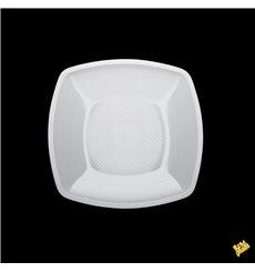 Piatto Plastica Piano Bianco Square PP 180mm (300 Pezzi)