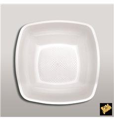 Piatto Plastica Fondo Bianco Square PP 180mm (25 Pezzi)