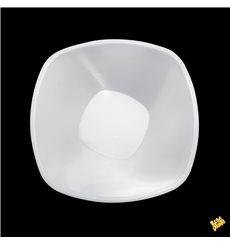 """Ciotola di Plastica PP """"Square"""" Bianco 1250 Ø21cm (60 Pezzi)"""