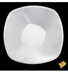 "Ciotola Plastica PP Bianco ""Square"" 3000ml Ø27,7cm (3 Pezzi)"