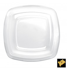 Coperchio Plastica Transp. per Piatto Square PET 180mm (25 Uds)
