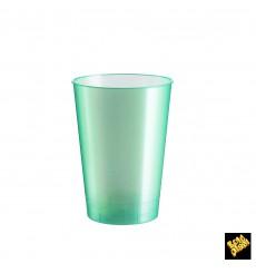 Bicchiere di Plastica Moon Verde Pearl PS 230ml (50 Pezzi)