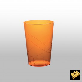 Bicchiere Plastica Rigida Arancione Trasp. PS 200ml (50 Pezzi)