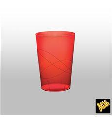 Bicchiere di Plastica Moon Rosso Trasp. PS 230ml (50 Pezzi)