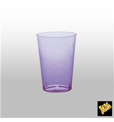 Bicchiere di Plastica Moon Lilla Trasp. PS 230ml (50 Pezzi)