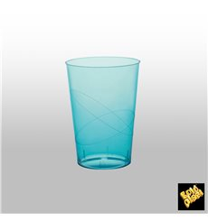 Bicchiere di Plastica Moon Turchese Trasp. PS 230ml (50 Pezzi)