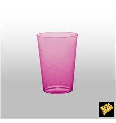 Bicchiere di Plastica Moon Fucsia Trasp. PS 230ml (1000 Pezzi)