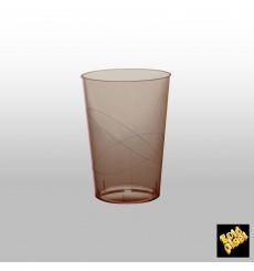 Bicchiere di Plastica Moon Marrone Trasp. PS 230ml (50 Pezzi)