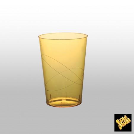 Bicchiere Plastica Giallo Trasp. PS 200ml (50 Pezzi)