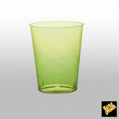 Bicchiere Plastica Verde Acido Trasp. PS 350ml (50 Pezzi)