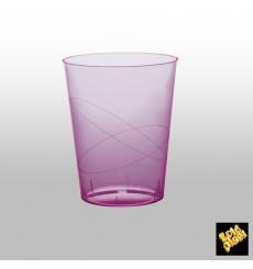 Bicchiere di Plastica Moon Lilla Trasp. PS 350ml (20 Pezzi)