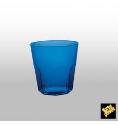 Bicchiere di Plastica Blu Trasp. PS Ø73mm 220ml (50 Pezzi)