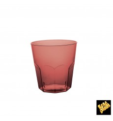 Bicchiere di Plastica Bordeaux Trasp. PS Ø73mm 220ml (50 Pezzi)