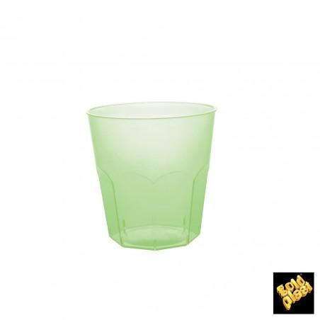 Bicchiere Plastica Verde Transp. PS Ø73mm 220ml (500 Pezzi)