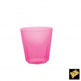 Bicchiere di Plastica Fucsia Trasp. PS Ø73mm 220ml (1000 Pezzi)