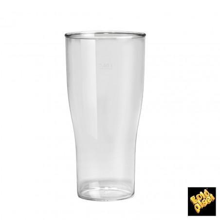 Bicchiere Plastica per Birra Trasp. SAN Ø73mm 200ml (5 Pezzi)