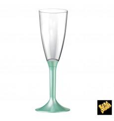 Calice Plastica Flute Gambo Tiffany Perlato 120ml 2P (200 Pezzi)