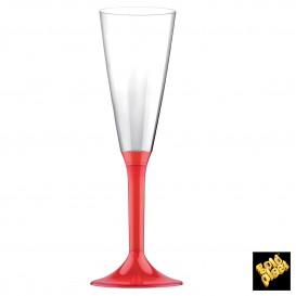 Calice Plastica Flute Gambo Red Transp. 160ml 2P (200 Pezzi)