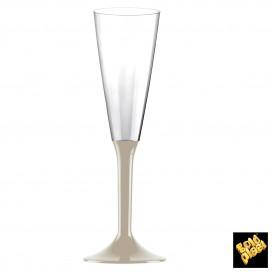 Calice Plastica Flute Gambo Beige 160ml 2P (200 Pezzi)
