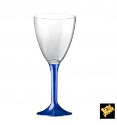 Calice Plastica Vino Gambo Blu Perlati 180ml 2P (20 Pezzi)
