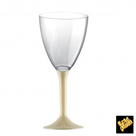 Calice Plastica Vino Gambo Crema 180ml 2P (20 Pezzi)