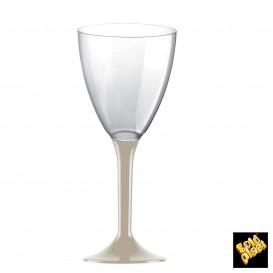 Calice Plastica Vino Gambo Beige 180ml 2P (20 Pezzi)