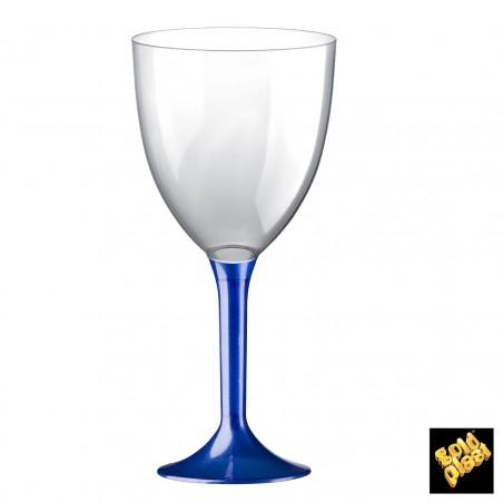 Calice Plastica per Vino Gambo Blu Perlati 300ml (200 Pezzi)