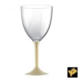 Calice Plastica Vino Gambo Crema 300ml 2P (20 Pezzi)