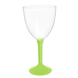 Calice Plastica Vino Gambo Verde Lime 300ml 2P (200 Pezzi)