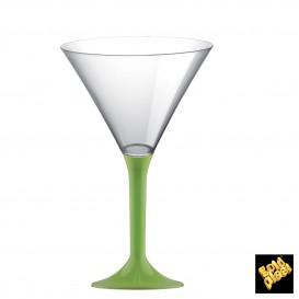 Coppa Plastica Cocktail Gambo Pistacchio 185ml 2P (20 Pezzi)