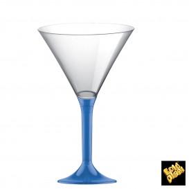 Coppa Plastica Cocktail Gambo Blu Transp. 185ml 2P (20 Pezzi)