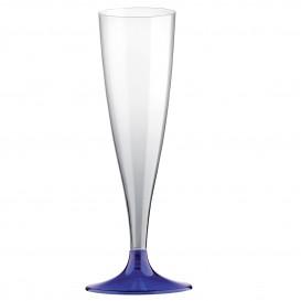 Flute Plastica Gambo Blu 140ml 2P (400 Pezzi)