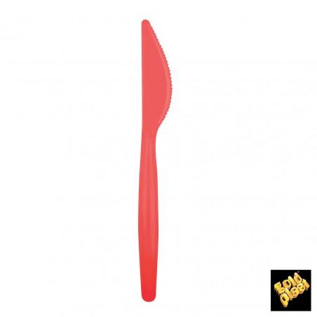 Coltello di Plastica Easy PS Rosso 185mm (20 Pezzi)