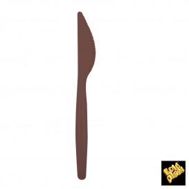 Coltello di Plastica Easy PS Marrone 185mm (20 Pezzi)