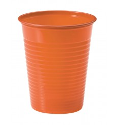 Bicchiere di Plastica Arancione PS 200ml (50 Pezzi)