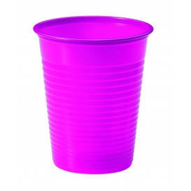 Bicchiere di Plastica Fucsia PS 200ml (50 Pezzi)