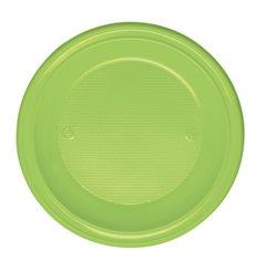 Piatto di Plastica Fondo Arancione PS 220mm (600 Pezzi)