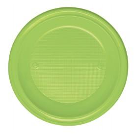 Piatto di Plastica Fondo Arancione PS 220mm (30 Pezzi)