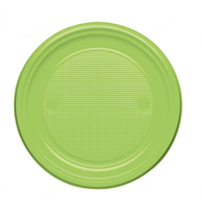 Piatto di Plastica Piano Verde Acido PS 170mm (1100 Pezzi)